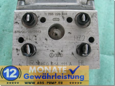 Bloc ABS calculateur 8E0614111E 8E0614111A 0265220408 0273004284 VW Audi