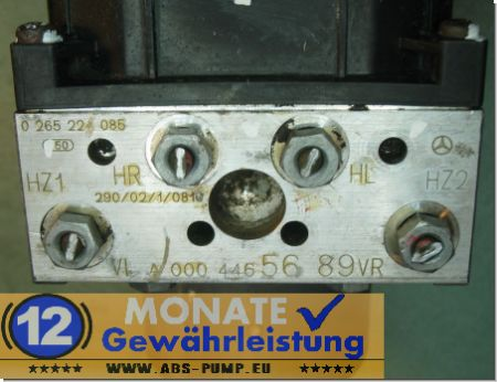 ABS Block A0004465689 0-265-224-085 Bosch 0265900043 Mercedes Sprinter