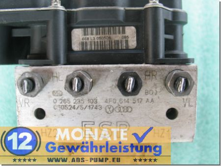 Centralina ABS 4F0614517AA 4F0-910-517-AD 0265235103 0-265-950-557 Audi A6 S6 Quattro
