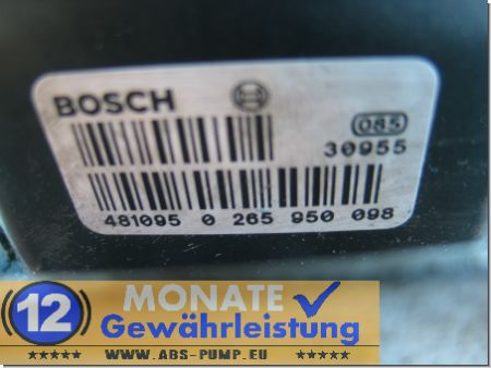 ABS ESP Block A0004466889 0-265-225-224 Bosch 0265950098 Mercedes Sprinter