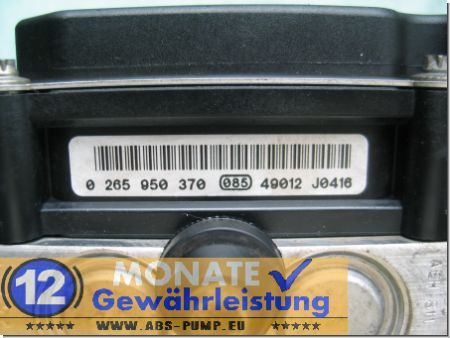 ABS Block 9649988180 0-265-234-144 Bosch 0265950370 Citroen C4