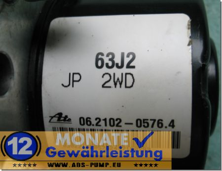 ABS Steuergerät Block 63J2 06210205764 Ate 06.2109-0811.3 Suzuki Swift