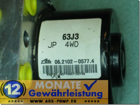 ABS Pump 63J3 4WD 06210205774 Ate 06.2109-0813.3 Suzuki Swift