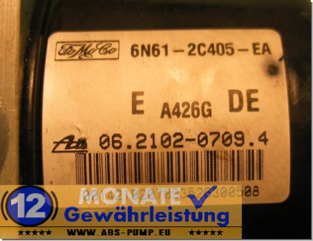 Bloc ABS calculateur Mazda 3 6N61-2C405-EA 06210207094 Ate 06.2109-0983.3