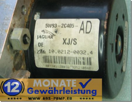ABS Block 5W932C405AD 10.0212-0032.4 Ate 10092610063 Jaguar XJ S-Type
