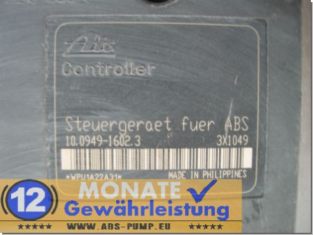 ABS Unit 467-67-474 10020402844 Ate 10.0949-1602.3 Fiat Doblo