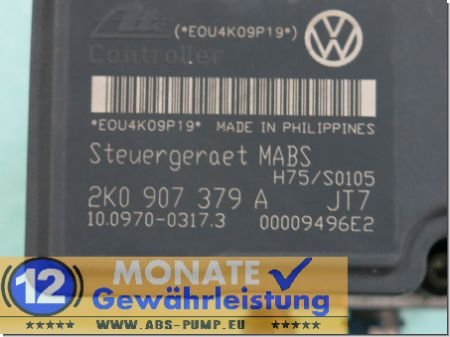 Modulo ABS 2K0-614-117-A 2K0907379A 100207-00294 Ate 100970-03173 VW Caddy