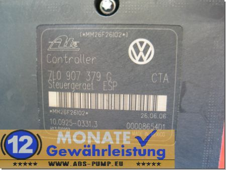 Bloc ABS calculateur 7L0614111H 7L0907379G 7L0907375G Touareg