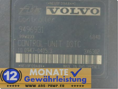 Bloc ABS 9496930 100204-02394 9496931 Ate 10.0947-0405.3 Volvo S80