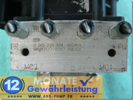 ABS Pump Module 0265235398 57110SMJG010M1 0265950744 Civic