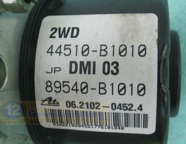 ABS Unit 44510B1010 89540-B1010 06210204524 06.2109-0667.3 Sirion Justy Passo