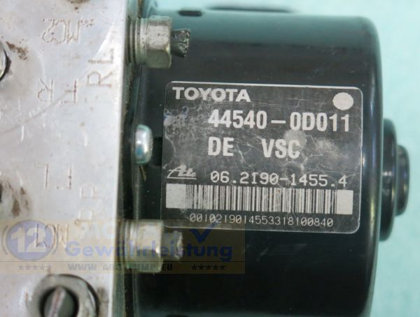 ABS Pump 445400D011 06219014554 06.2109-0319.3 89541-0D030 Toyota Yaris